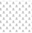 simple police officer cop seamless pattern with vector image vector image