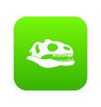 skull of dinosaur icon digital green vector image vector image