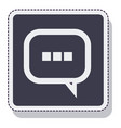 speech bubble message isolated icon vector image vector image