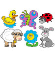spring animals collection vector image vector image