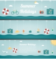 Summer travel banners Summer holidays background vector image vector image