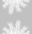 tropical design with white palm leaves and plants vector image vector image