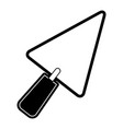 trowel flat icon black silhouette vector image