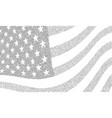 usa dotted halftone flag vector image