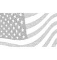usa dotted halftone flag vector image
