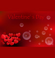 valentine s day background with red heart and vector image