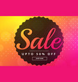 vibrant sale banner poster design template vector image vector image