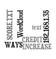 ways to increase your credit score text word vector image vector image