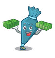 with money bag pastrybag mascot cartoon style vector image vector image