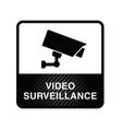 video surveillance icon in black color vector image
