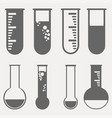 chemical test tubes pictogram icons set vector image