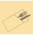 Knife fork and napkin vector image