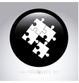 puzzle button vector image