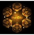 Hot dice background vector image