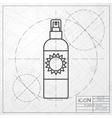 set of flat bottles vector image