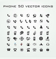 50 universal outline icons for web and mobile vector image vector image