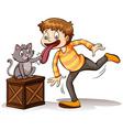A cat got your tongue idiom vector image vector image