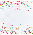 abstract background with falling confetti vector image