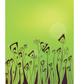 Abstract green floral background vector image