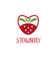 abstract logo template strawberry vector image vector image