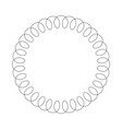 black telephone spiral cable in the circle simple vector image