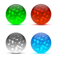 Bright colorful icon balls vector image