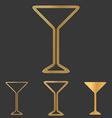 Bronze line drink logo design set vector image vector image