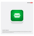 burger icon green web button vector image