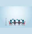 businessmen discussing project on the table vector image vector image