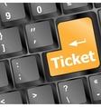 Buy tickets computer key vector image