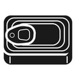 canned fish top view icon simple style vector image vector image
