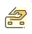 car cloth rubbing work icon design 48x48 pixel vector image vector image
