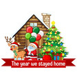 christmas celebrating during covid vector image