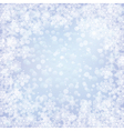 christmas frozen background with snowflakes vector image vector image