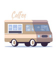 coffee street truck flat movable city cafe fast vector image