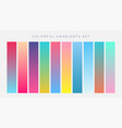 colorful set of vibrant gradients vector image vector image