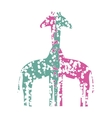 Couple of Giraffes in Love vector image