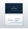 creative concept business card design vector image vector image