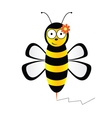 Cute bee in black and yellow color