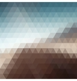 Digital triangle pixel mosaic vector image
