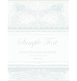 elegant abstract vintage frame invitation vector image vector image