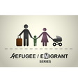 Family of immigrants or refugees vector image