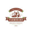 farmers market logo template vector image vector image