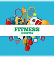 fitness industry social media banner vector image