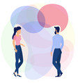 flat design young man and woman characters vector image