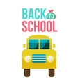 Flat yellow school bus icon vector image vector image
