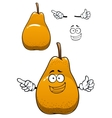 Funny yellow pear fruit cartoon character vector image vector image