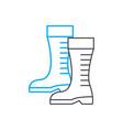 garden boots linear icon concept garden boots vector image