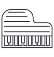 grand piano line icon sign vector image vector image