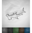 hammerhead shark icon vector image vector image